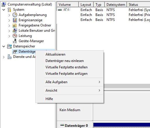 VHD Datei Vergrößern, Verkleinern unter Windows 10